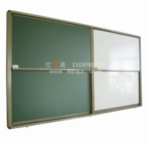 School Furniture Green and White Writing Sliding Magnetic Board pictures & photos