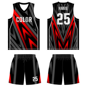 Personalized Mesh Sublimation Basketball Jersey for Men pictures & photos