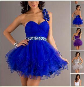 Single Strap One Shoulder Party Dresses, Short Evening Dresses (ED3026) pictures & photos