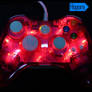 Wholesale Transparent Wired Joystick for xBox 360 Controller LED Lighting pictures & photos