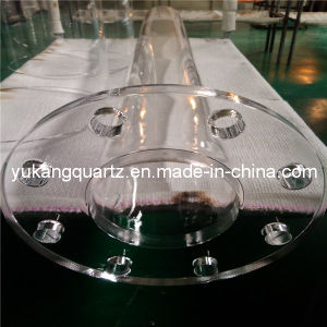 Quartz Glass Jacket Pipe Flange Tube pictures & photos