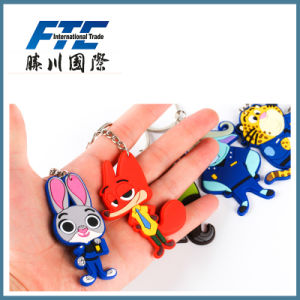 High Quality Customized Silicon Key Chain pictures & photos
