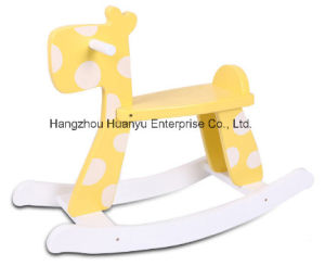 Factory Supply Rocking Rabbit Yellow with White DOT pictures & photos