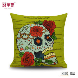 New Designed Skull Printed Decorative Pillows for Hollween pictures & photos