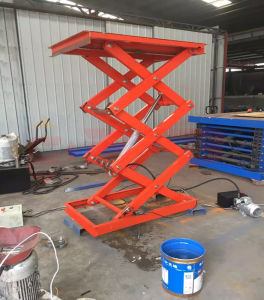 Stationary Scissor Hydraulic Lift Tables Indoor Workshop pictures & photos