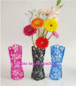 Customize Plastic Foldable Flower Vases pictures & photos