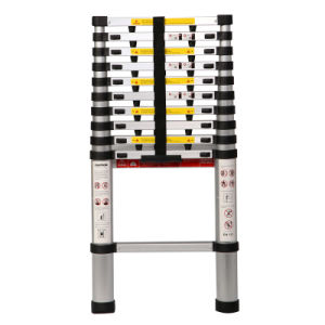 3.8m 12 Steps Aluminum Telescopic Ladder pictures & photos