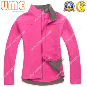 Fashion Design Women′s Windproof Coat with Fleece Lining