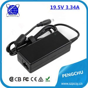 Desktop Connection and DC Output Type 65W AC Adaptor for 19.5V 3.34A Laptop Power Adapter