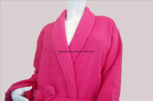 High Quality Top-End Hotel Double-Sided Single Layer Terry Bathrobe (DCS-9005) pictures & photos