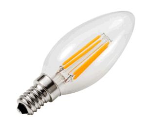 Candle Bulb C35 E12/E14/Ba15D Base 1.5W/3.5W Decorated Candle Lamp