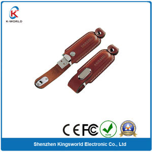 Bulk Cheap OEM Leather USB Flash Drive pictures & photos