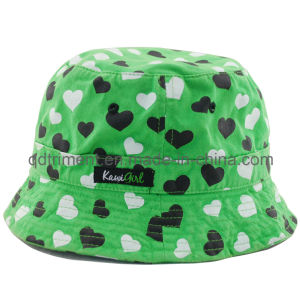 Heart Printing Cotton Twill Fisherman Sport Bucket Hat (TMBT0266) pictures & photos