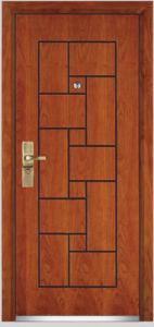 Steel Wooden Armored Door (YF-G9008) pictures & photos