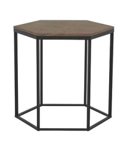 Soho Hexagon Wood Side Table for Home pictures & photos