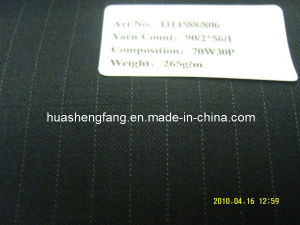 70% Wool Worsted Fabric / Fancy Suiting Fabric with Stripes (I314588/806)