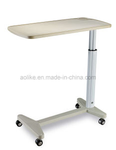 Adjustable Hospital Bedside Table (Over bed table) (ALK06-AT3) pictures & photos
