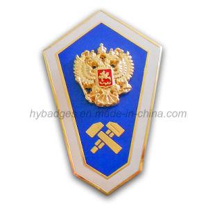 3D Zinc Alloy Badge Shield for Souvenir (GZHY-BADGE-020) pictures & photos