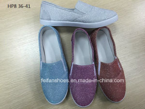 Latest Cheap Fashion Lady Casual Shoes Injection Sports Canvas Shoes (HP8) pictures & photos