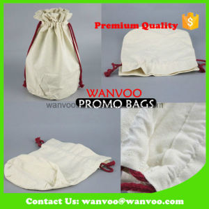 Fashion Friendly Cotton Drawstring Cookies Bag for Food pictures & photos