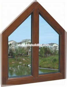 Solid Wood Fixed Window with Triangle Design (KDSW040)