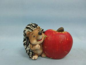 Apple Hedgehog Shape Ceramic Crafts (LOE2536-C9.5)