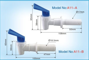 Plastic Faucet for Water Dispenser with Long Male Thread A11-B pictures & photos