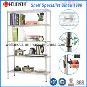 Assembly Adjustable Wire Book Shelving Rack of Home/Office Furniture pictures & photos