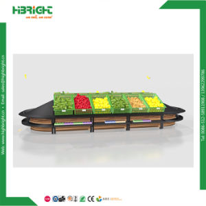 Island Fruit and Vegetable Display Gondola Shelf pictures & photos