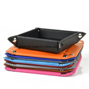 Wholesale Faux Leather Desktop Snap Tray Organizer Document Tray pictures & photos