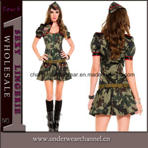 Sexy Fancy Dress Camo Cop Halloween Costume (TLQZ0067) pictures & photos