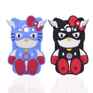Cartoon Soft Hello Kitty Cat Silicone Case for Samsung S7 S7edge J7prime J5prime (XSY-010)