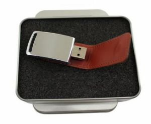 Newest Custom Logo Leather USB Flash Drive pictures & photos