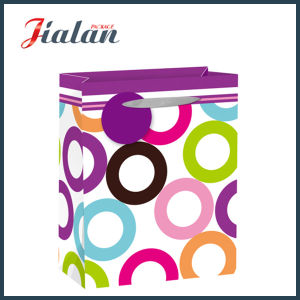 Glossy Laminated Art Paper Circles Daily Shopping Gift Paper Bag pictures & photos