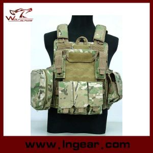 Molle Combat Strike Plate Carrier Ciras Vest with 1 Map Pouch pictures & photos