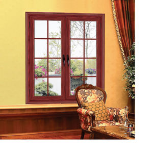 Feelingtop Casement Aluminum and Wood Environmentally Swing Window (FT-AW90) pictures & photos