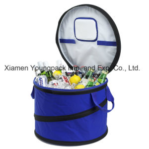 Fashion Promotional Custom Large Collapsible Round Party Cooler Bag pictures & photos