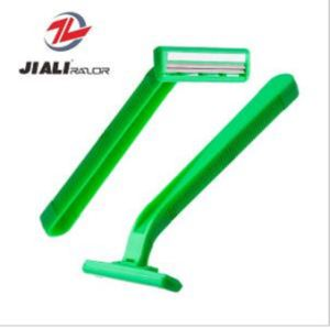 Cheap Disposable Razor Twin Blade Shaving Razor (SL-3011L) pictures & photos
