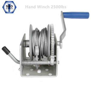 Hand Winch 2500lbs Zinc Plated pictures & photos