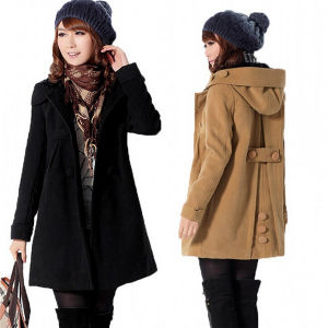 New Women′s Stylish Wool Warm Long Coat Jacket Overcoat (50029-1) pictures & photos