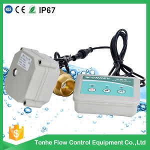 2 Way Water Leak Alarm Electric Control Brass Valve for Water Leakage Detection pictures & photos