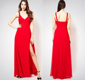 Ladies Evening Dress with Sexy Backless Slim Dress pictures & photos