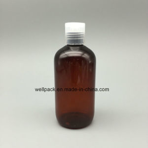 250ml Amber Boston Plastic Bottle for Cosmetic pictures & photos