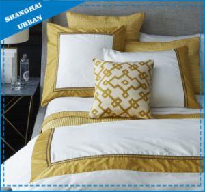 Golden Border Patchwork 300tc Sateen Cotton Bedsheet pictures & photos
