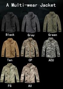 Outdoor Commander Softshell Waterproof Windproof Coat Military Officer Jacket pictures & photos