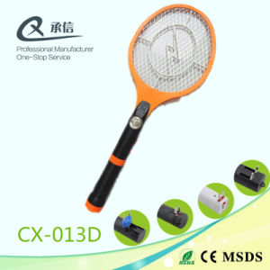 Electronic Mosquito Swatter Bat with 3*LED Torch pictures & photos