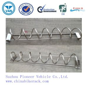 Polished Hot Sales Spiral Stainless Steel Parking Bike Racks pictures & photos