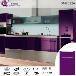 Elegant Purple Color Kitchen Cabinet for Asia Market pictures & photos