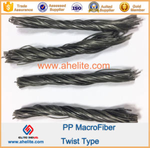 Macrofiber Chemical Fibre PP Twist Fiber for Concrete 54mm pictures & photos
