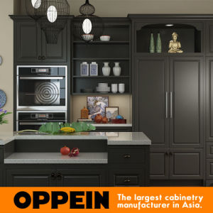 High Quality Modern Lacquer Wood Kitchen Cabinets (OP15-L21) pictures & photos